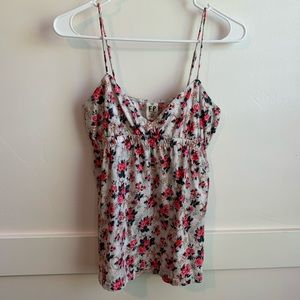 Free People Pink Floral Spaghetti Strap Cami